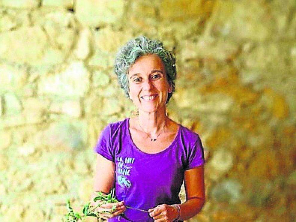 Evelyn Celma es la responsable de la empresa de cosmética natural Matarrania.