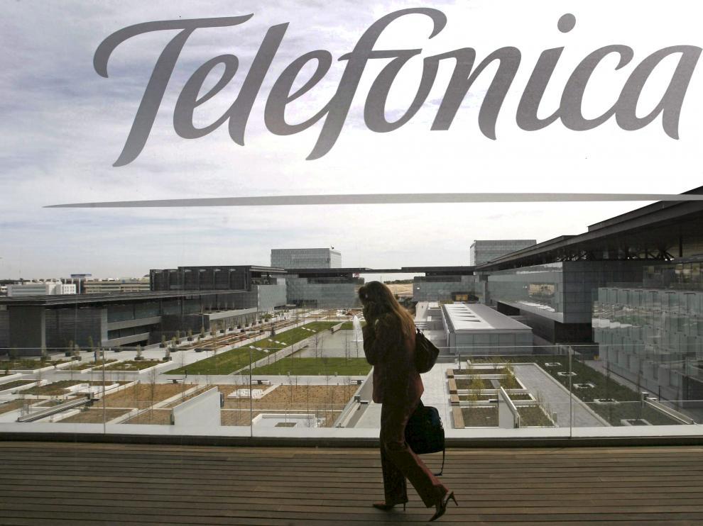 Imagen de archivo de la sede de Telefónica en Madrid