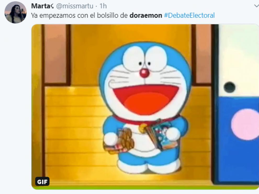 Albert Rivera convierte a 'Doraemon' en 'trending topic' durante el debate