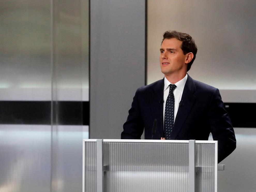 El candidato de Ciudadanos Albert Rivera, en el debate electoral 2019