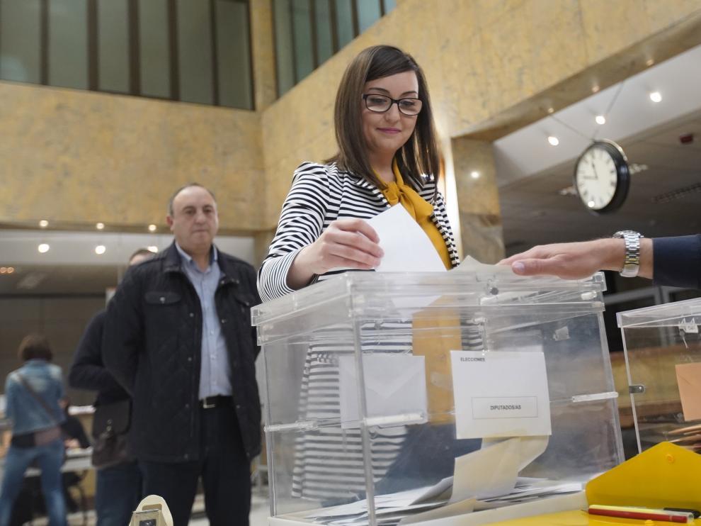 Elecciones Generales. Votaciones en colegios electorales de Teruel.Foto Antonio Garcia/bykofoto. 28/04/19 [[[FOTOGRAFOS]]]