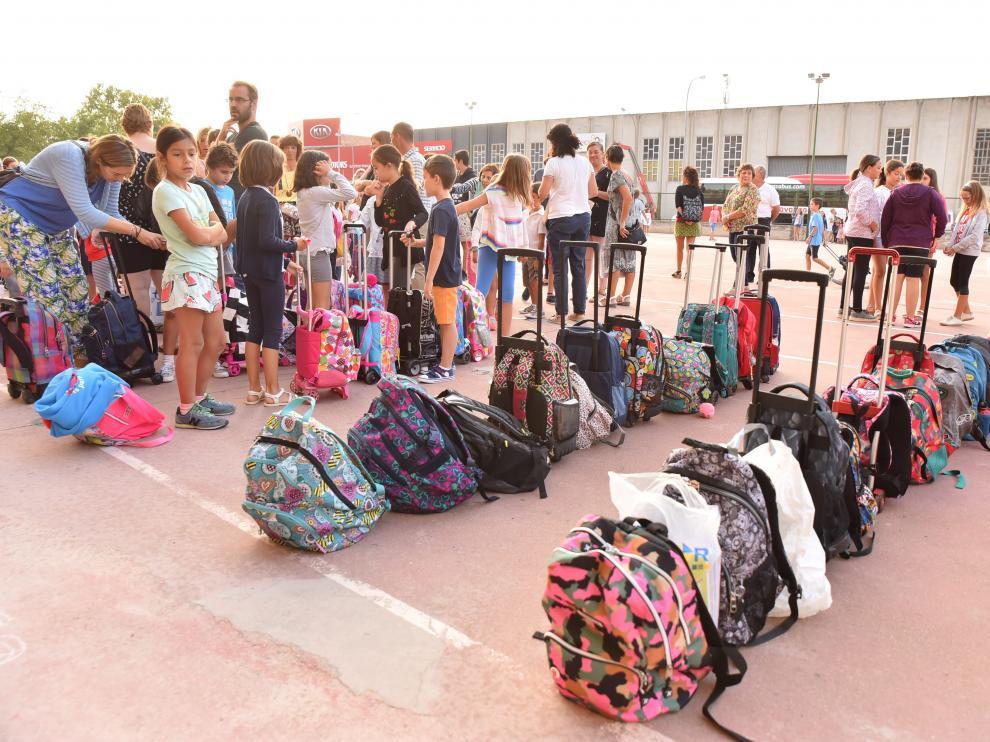 Foto de archivo de un colegio de Huesca.