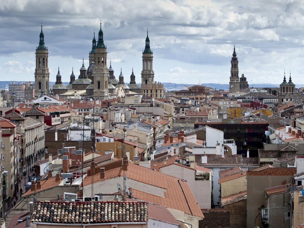 Vista panorámica de Zaragoza.
