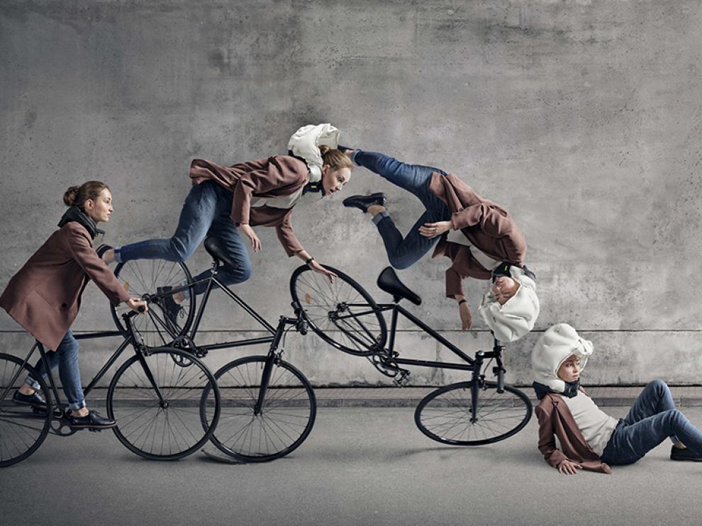 El sistema 'Hövding', el airbag del ciclista.