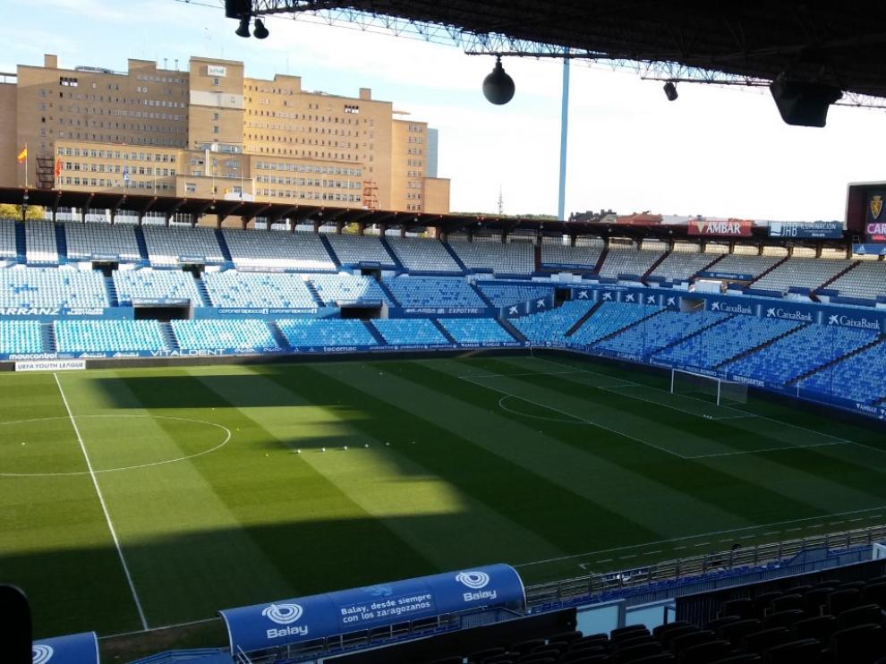 La Romareda, antes del Real Zaragoza juvenil-Apoel.
