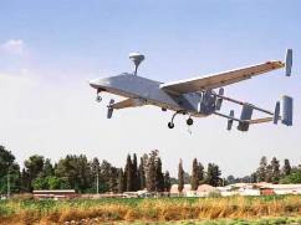 Un dron Seacher MK-IIJ del Ejército de Tierra, que se utilizó en Afganistán, e interviene por primera vez en las maniobras de San Gregorio