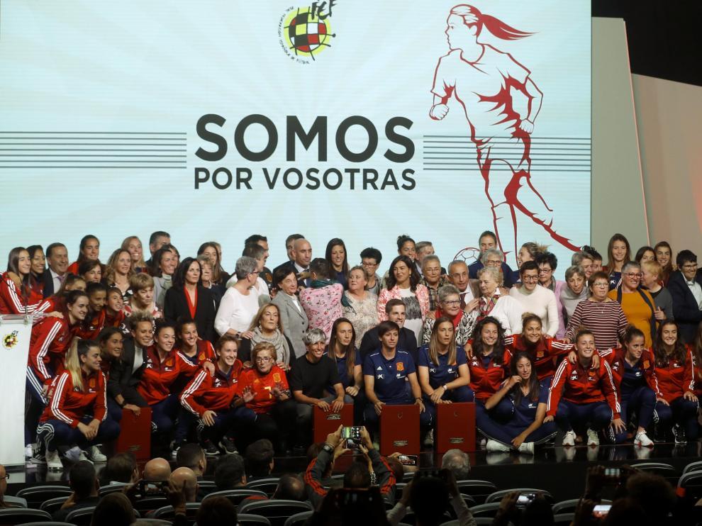 Homenaje, este miércoles, de la Federación Española de Fútbol a las jugadoras que han hecho historia en el fútbol femenino.