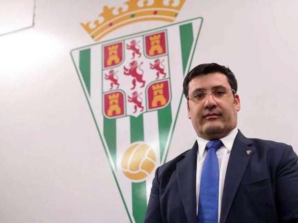 El presidente del Córdoba, Jesús León.