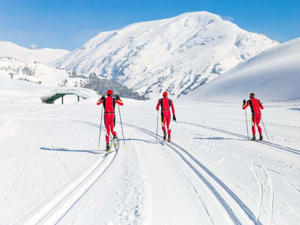 Foto de archivo del circuito de esquí de fondo de Candanchú.