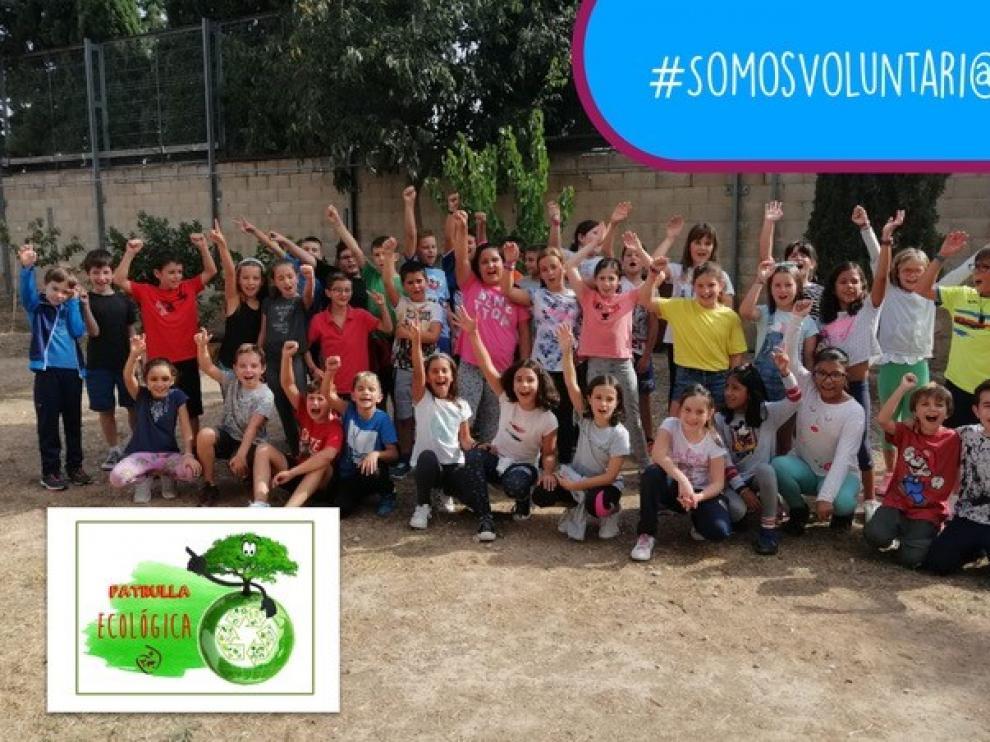 Los alumnos trabajan en el proyecto educativo '#somosvoluntari@s'