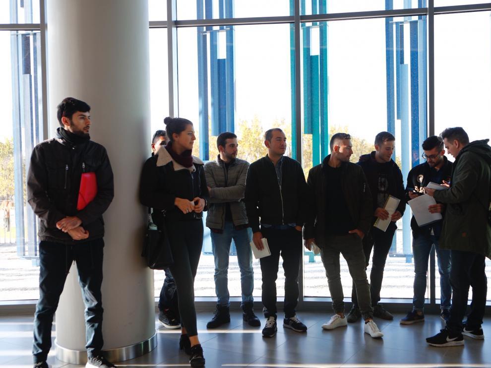 Jornada de este viernes del juicio contra Deliveroo en el juzgado de lo social número 2 de Zaragoza.