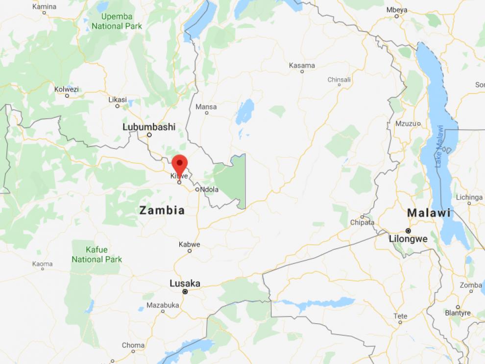 Los hechos sucedieron en la localidad de Kitwe, ubicada en el oeste de Zambia.
