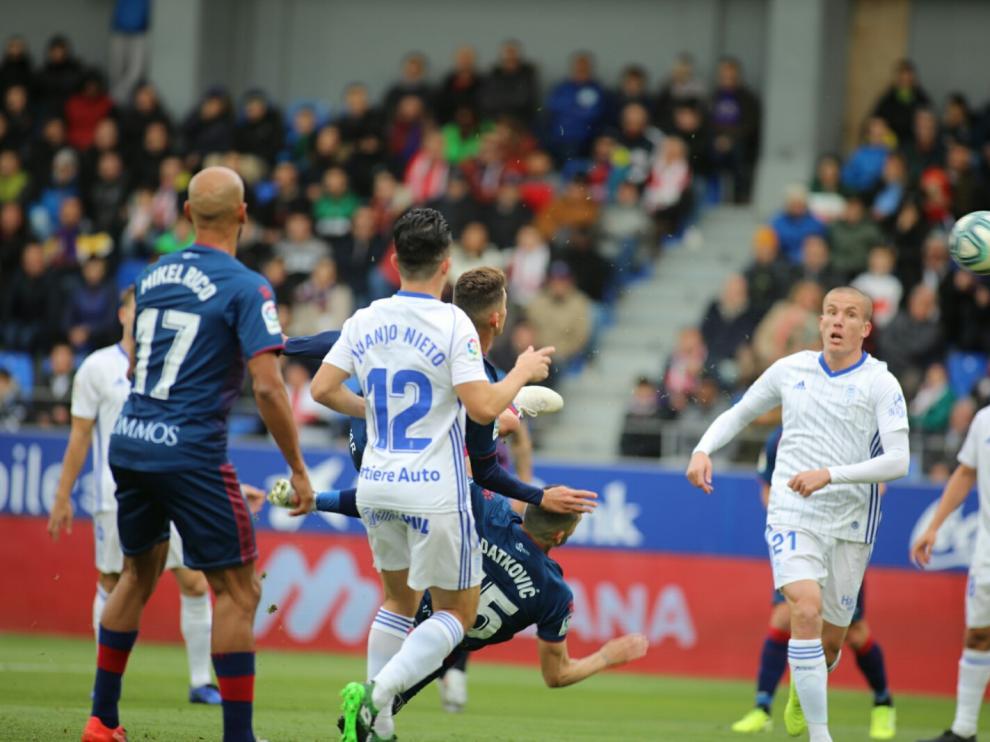 El partido entre la SD Huesca y el Oviedo