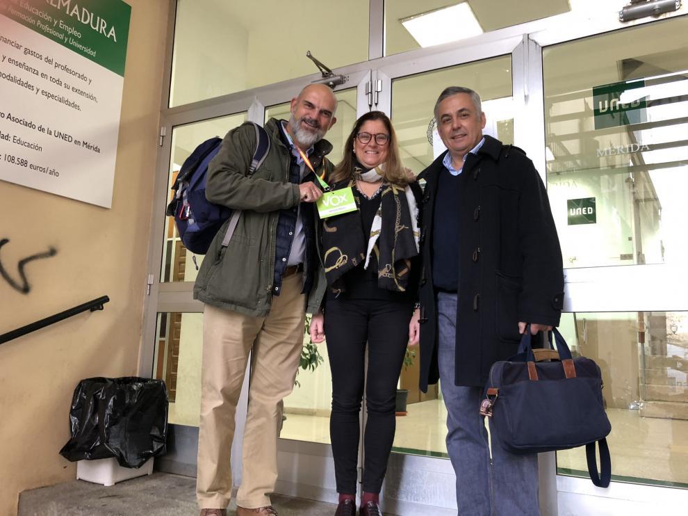 Candidatos de Vox al Congreso por Badajoz