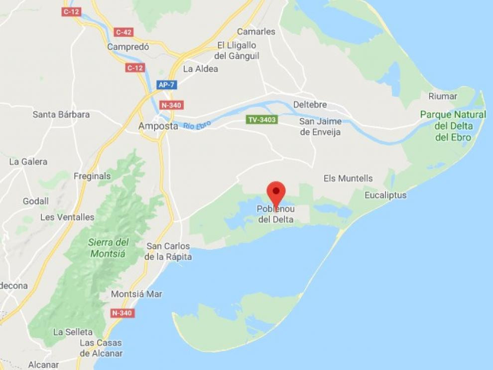 Captura de Google Maps del lugar donde han ocurrido los hechos.