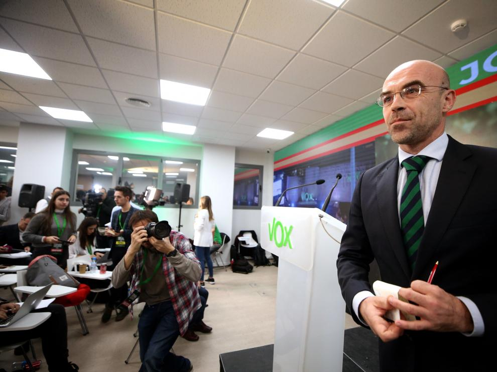 El eurodiputado de Vox, Jorge Buxade, ha valorado los primeros datos de participación.