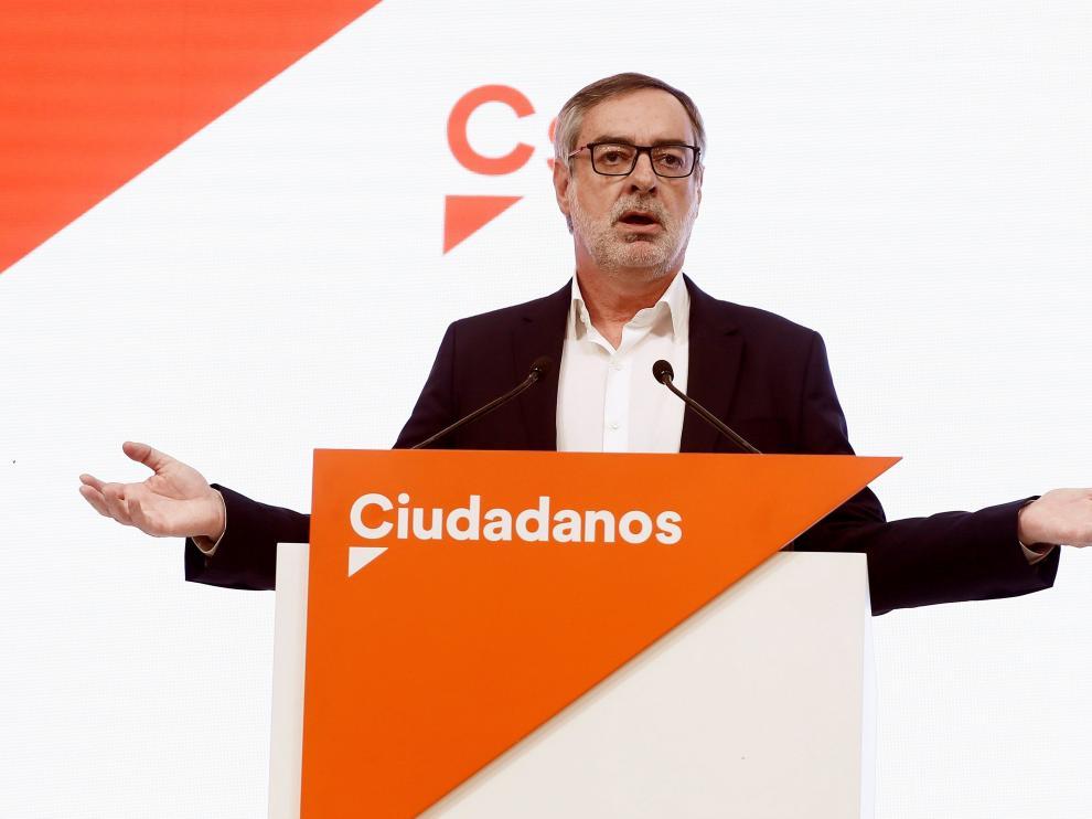 José Manuel Villegas, en su primera comparencia tras cerrarse los colegios electorales.