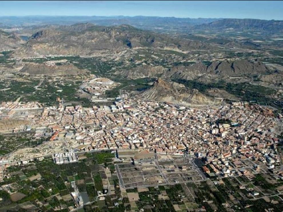 Panorámica de Archena, Murcia.