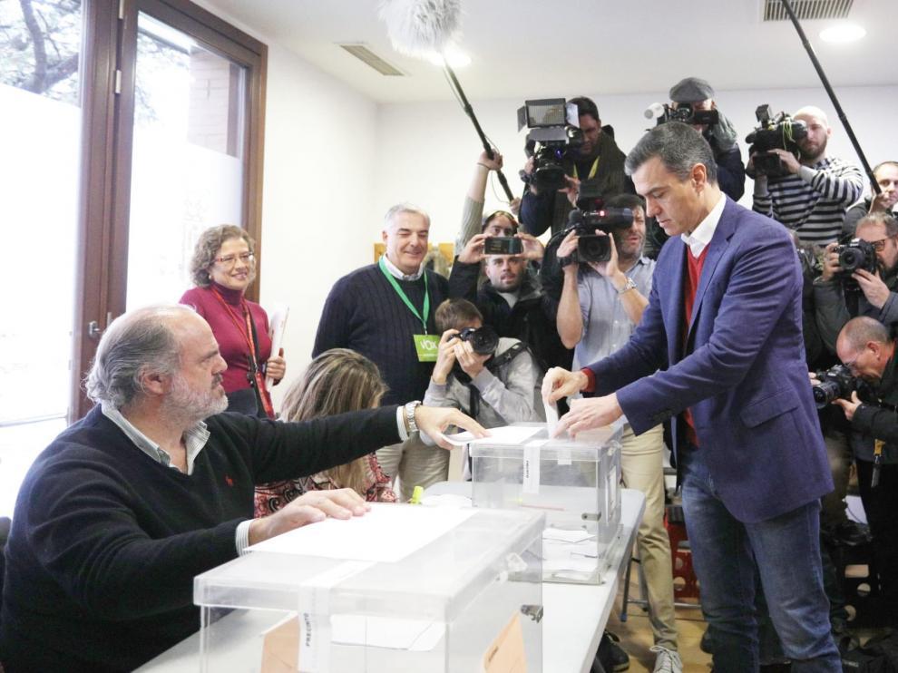 Pedro Sánchez ha votado a primera hora de la mañana.