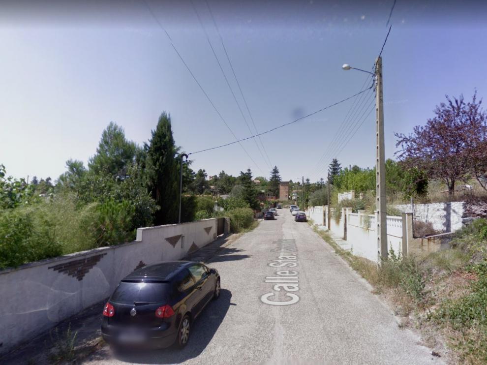Una imagen de la calle de Santa Cecilia en la localidad barcelonesa de El Bruc.