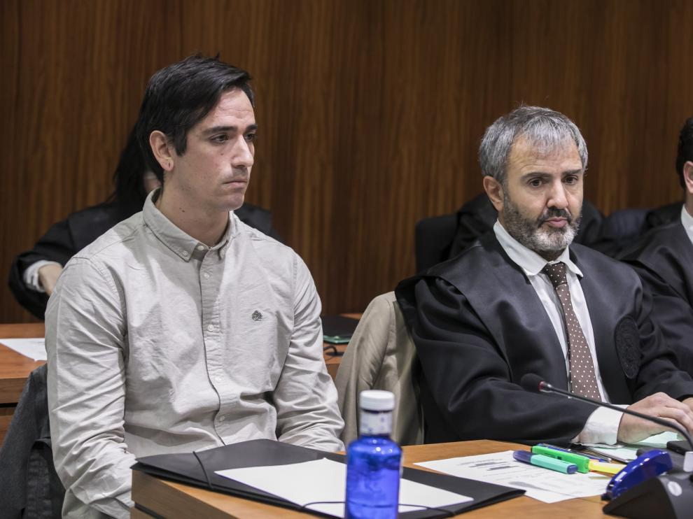 El acusado, Rodrigo Lanza, durante la última sesión del juicio del crimen de los tirantes.