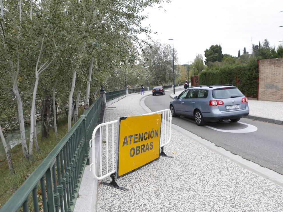 El tráfico en el paseo de los Infantes de España de Zaragoza se corta un mes desde este martes por obras.
