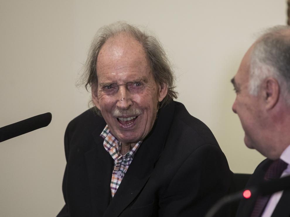 Hans Rudolf Gerstenmaier, junto a José Luis Rodrigo, director general de Fundación Ibercaja