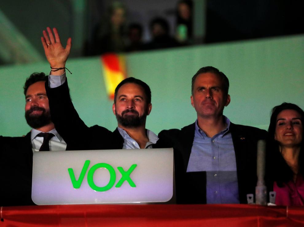 Vox celebra su triunfo tras conocer los resultados electorales