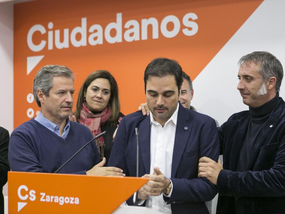 ARAGON ELECCIONES SEDE CIUDADANOS RODRIGO GOMEZ / 10-11-2019 / FOTO: ARANZAZU NAVARRO [[[FOTOGRAFOS]]]