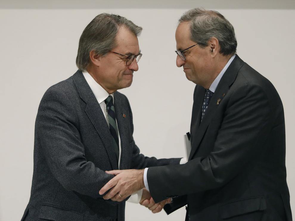 Quim Torra se ha reunido este lunes con Artur Mas.