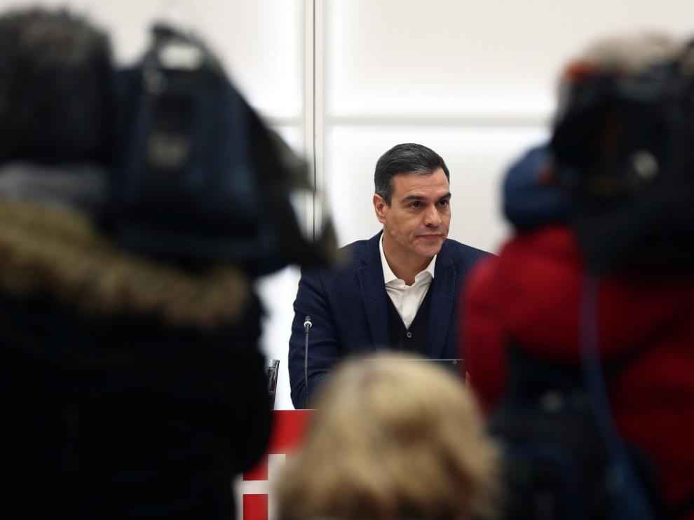 Sánchez, al frente de la Ejecutiva del PSOE