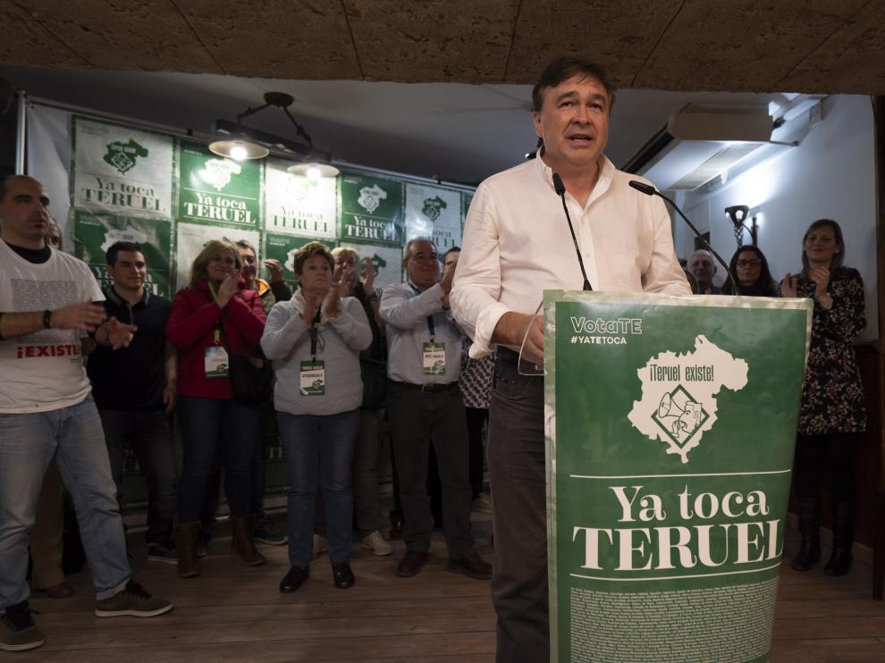 sedede Teruel Existe en la noche electoral. foto antonio Garcia/bykofoto 10/11/19 [[[FOTOGRAFOS]]]
