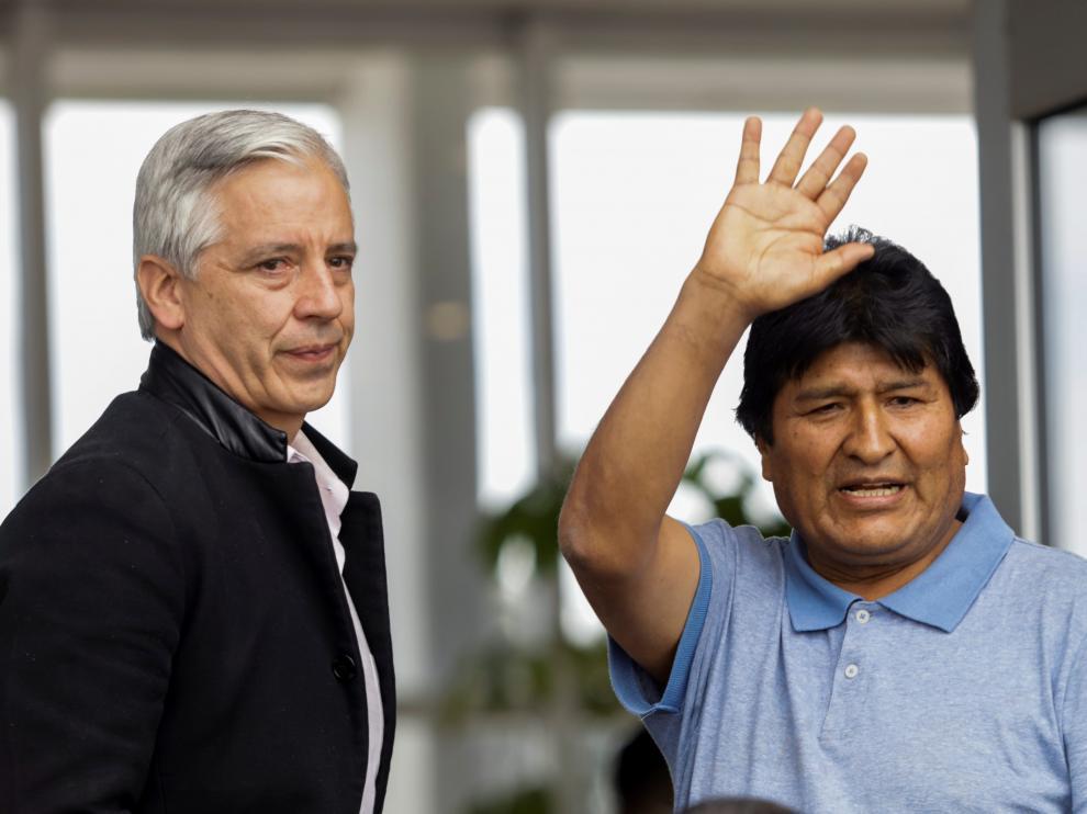 Evo Morales, a su llegada a México.