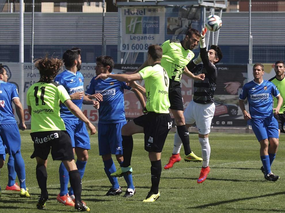 La SD Huesca se impuso en 2015 por 0-3 al Fuenlabrada en su última visita a los madrileños.