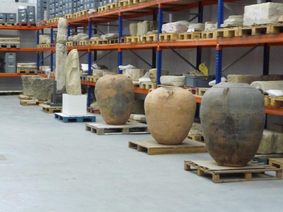 Interior del Almacén de Arqueología de navarra