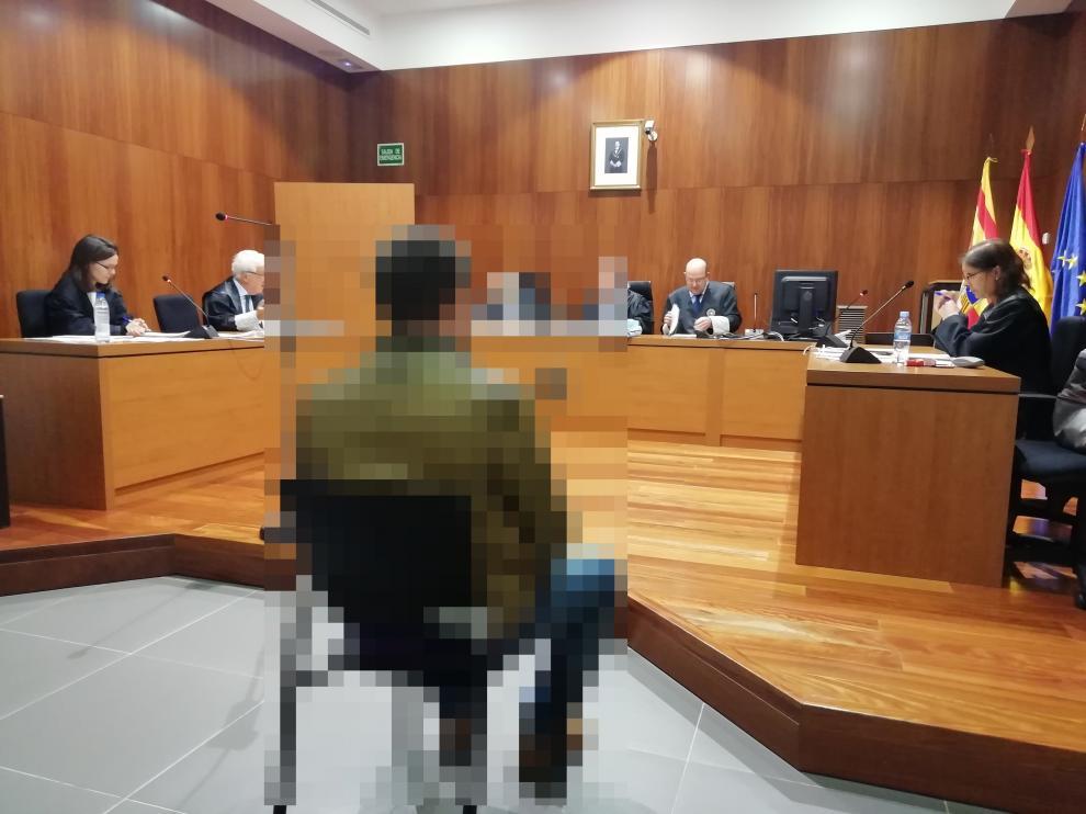 El guardia civil, durante el juicio celebrado el pasado 30 de octubre en la Audiencia de Zaragoza.