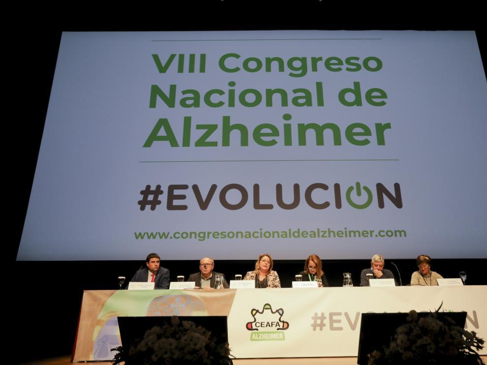 Acto de bienvenida al VIII Congreso Nacional del Alzhéimer en Huesca.