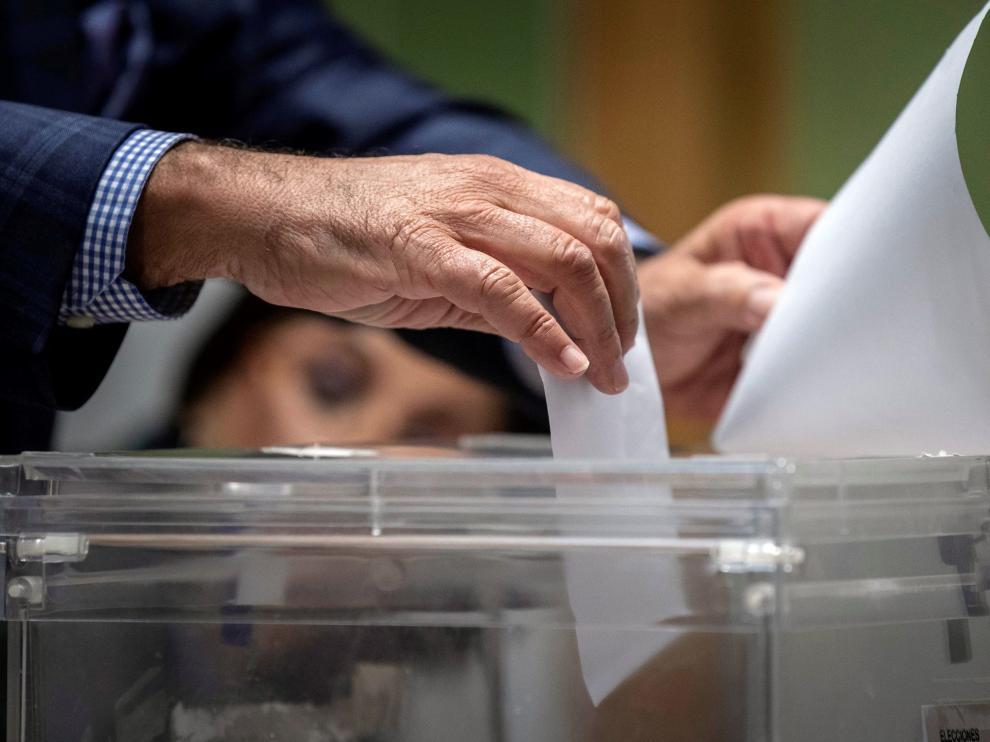 Un momento de las votaciones del 10 de noviembre.