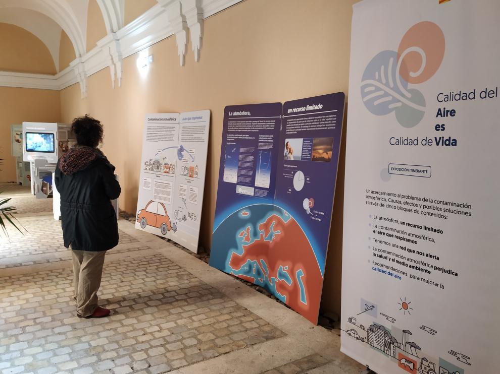 La exposición se puede contemplar hasta el martes día 19 en el claustro del antiguo convento de La Merced.