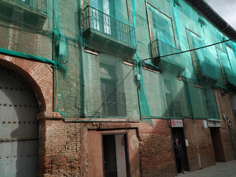Obras de rehabilitación en la sede de Cáritas en Calatayud.