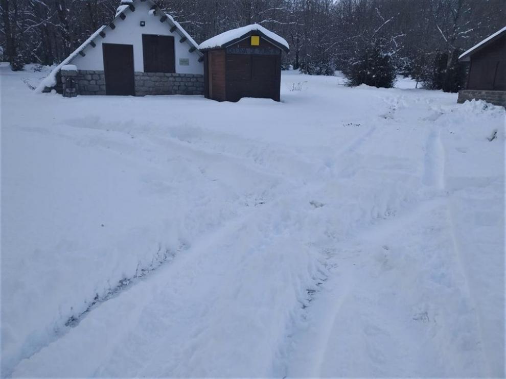 Rodadas sobre la nieve en el espacio nórdico de Pineta
