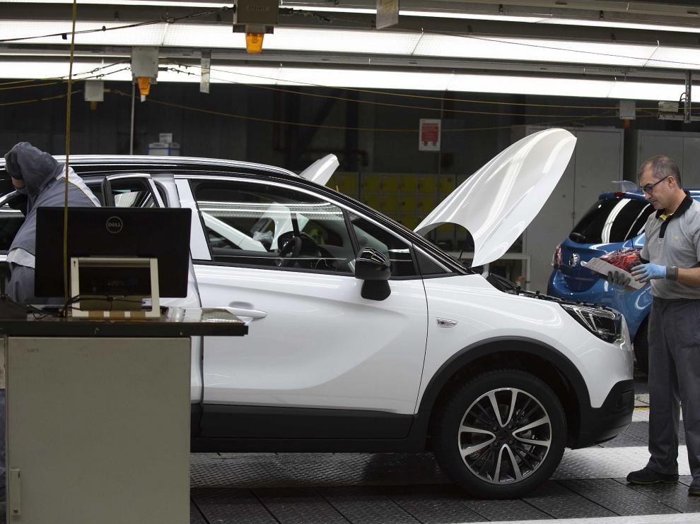 Fábrica de Opel España, del grupo PSA, en Zaragoza.