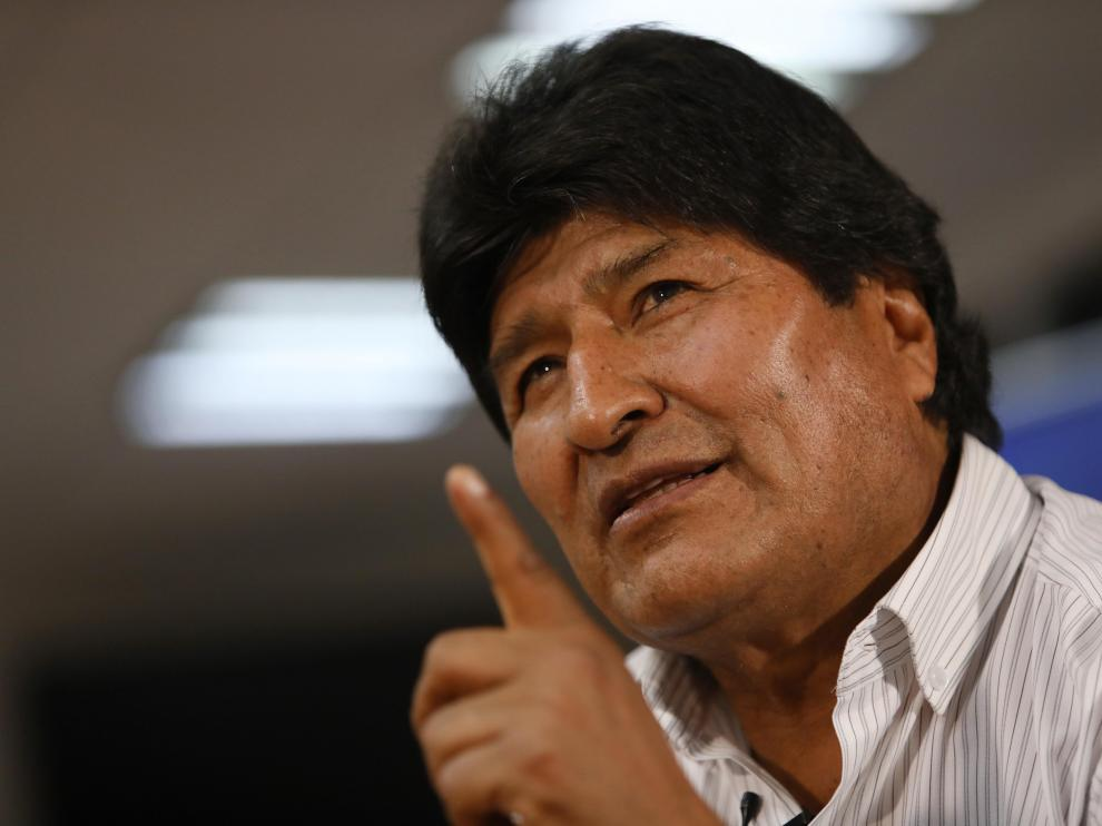 """El expresidente de Bolivia Evo Morales, este domigo, 17 de noviembre, en Ciudad de México: """"Tengo mucho miedo a una guerra civil en Bolivia"""""""
