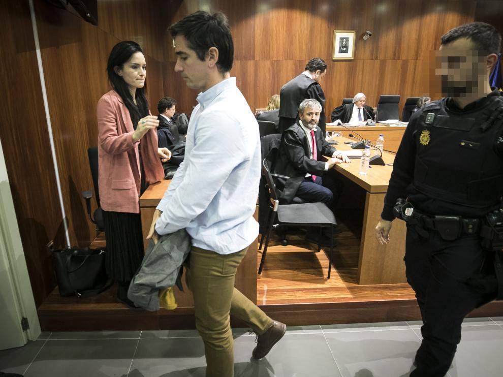Rodrigo Lanza, tras escuchar el veredicto del jurado el pasado viernes, 15 de noviembre