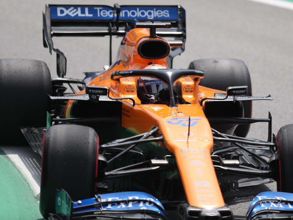 Carlos Sainz, en el Gran Premio de Brasil