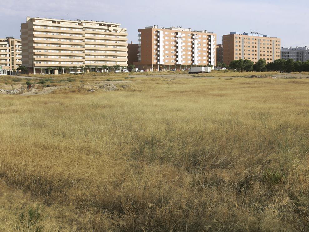 Terrenos en los que se proyectó inicialmente construir el nuevo cuartel de la Guardia civil