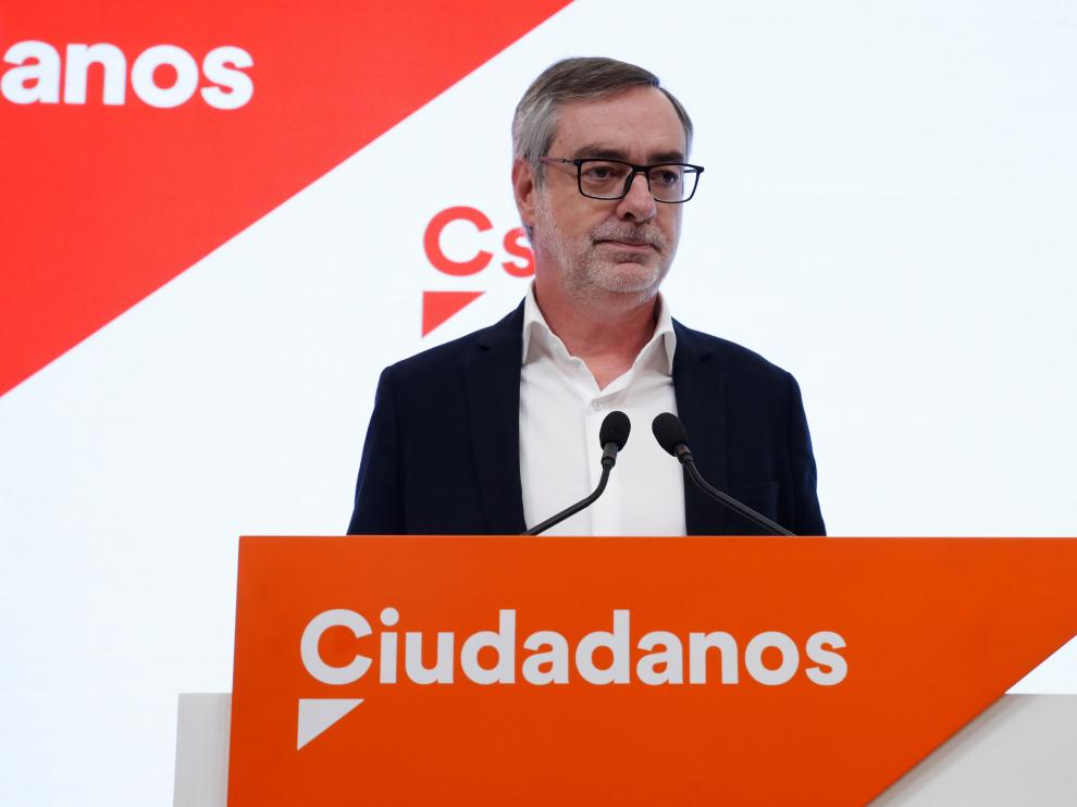 El secretario general de Cs, José Manuel Villegas, tras la reunión del Comité Permanente de Ciudadanos.