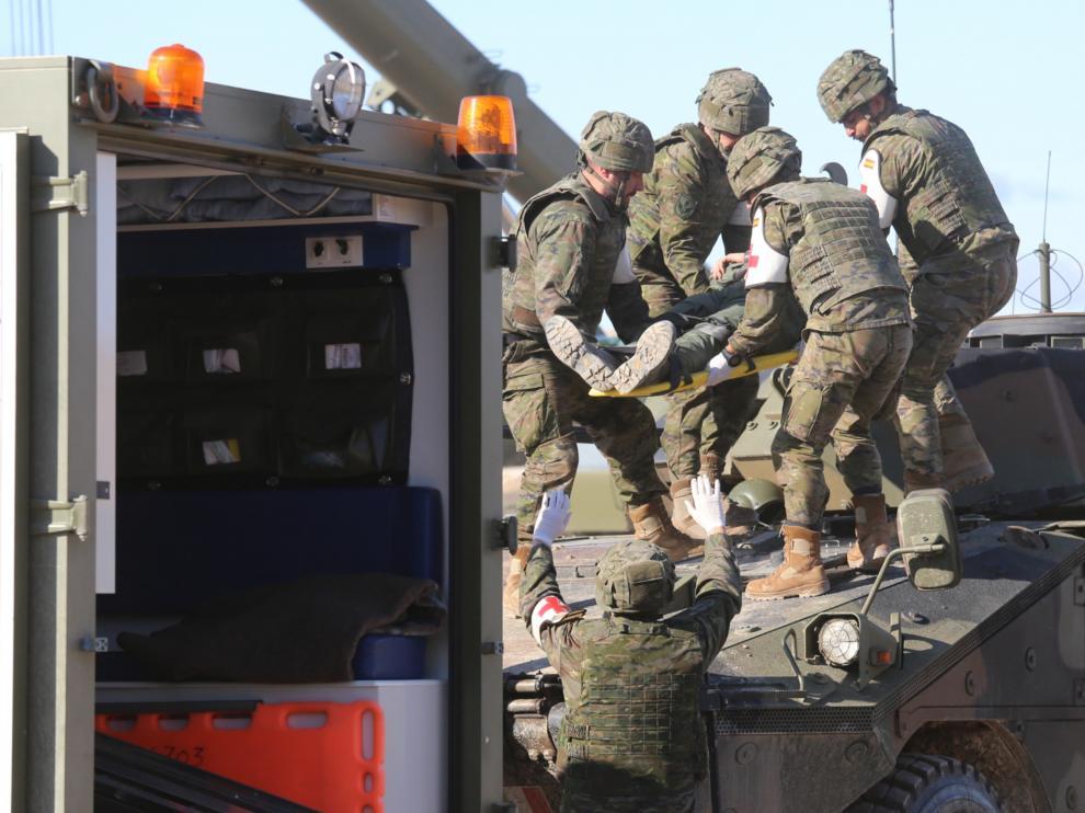 Maniobras militares en San Gregorio