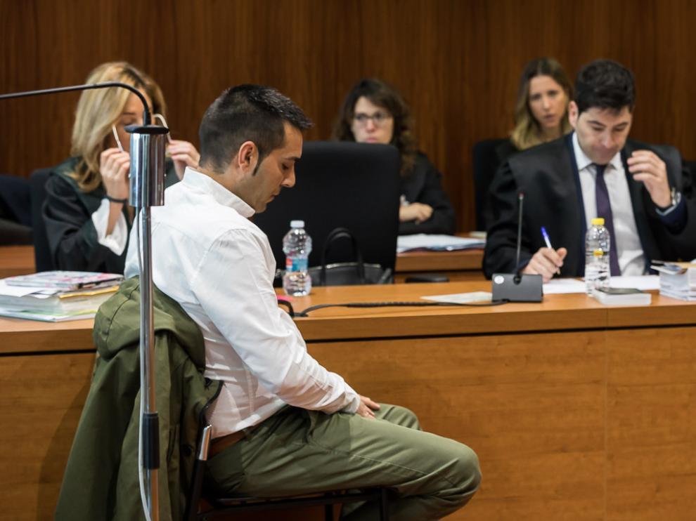 David Pellicer, durante la sesión del juicio celebrada en la Audiencia este martes.