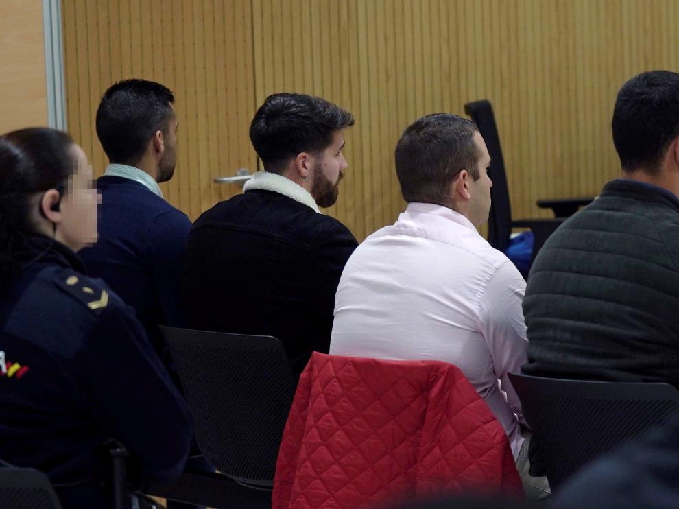 Los acusado, en el banquillo durante el juicio